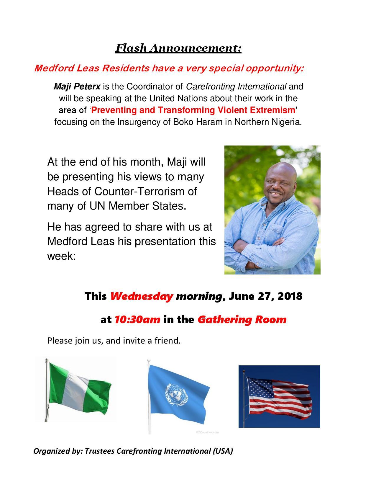 Latest Announcement- Insurgency of Boko Haram